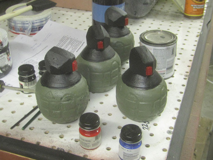 Frag Grenades painted