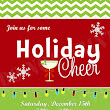 Personalized Photo Invitations | Cmartistry : Christmas Holiday Cheers Party Invitation