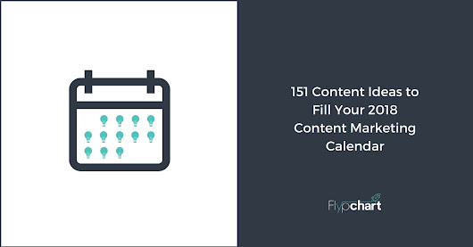 151 Content Ideas to Fill Your 2018 Content Marketing Calendar