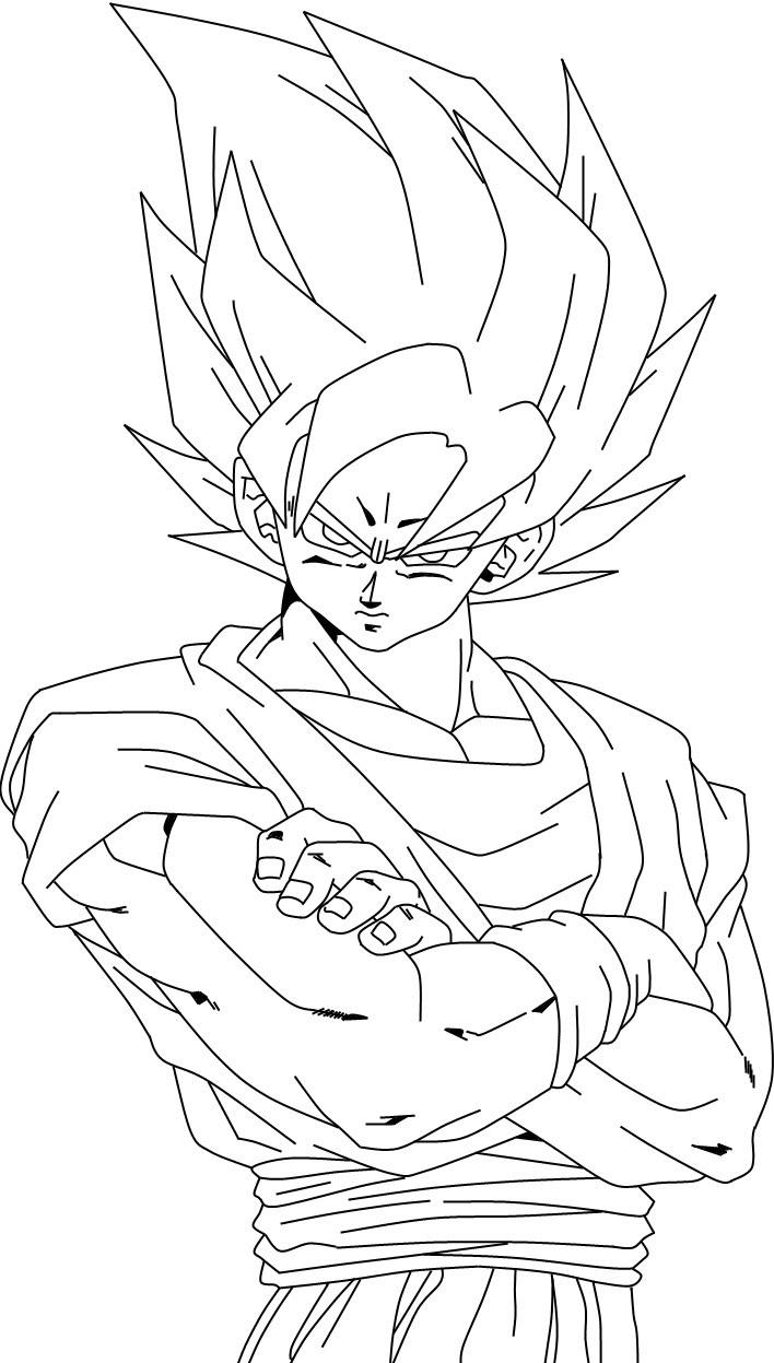 【50 ++】 Coloriage Dragon Ball Z Sangoku Super Saiyan Divin