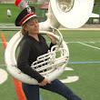 Dylan marches with the Ohio State marching band