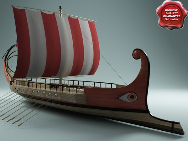 3d Model Of Roman Galley By 3dmolier 3dmolier 3d Models