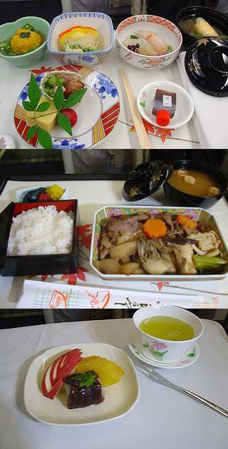 全日空商務艙,四月日式餐