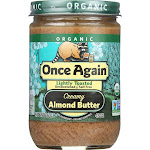Once Again Lite Toasted Smooth Almond Butter (12 - 16 oz jars)