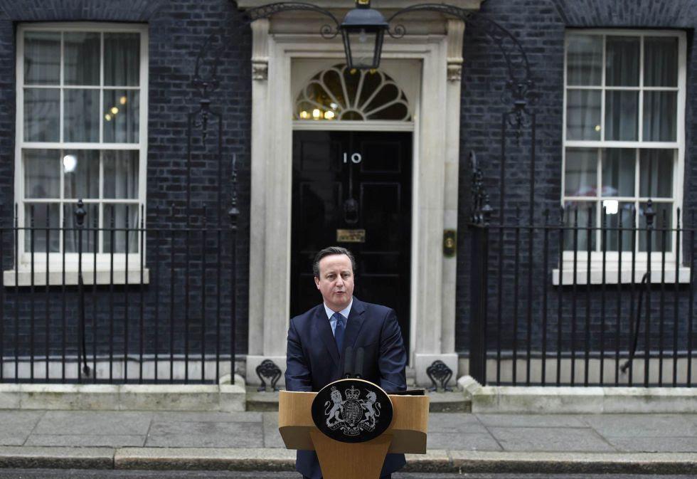 David Cameron explica en Downing Street el acuerdo alcanzado con la Unión Europea.