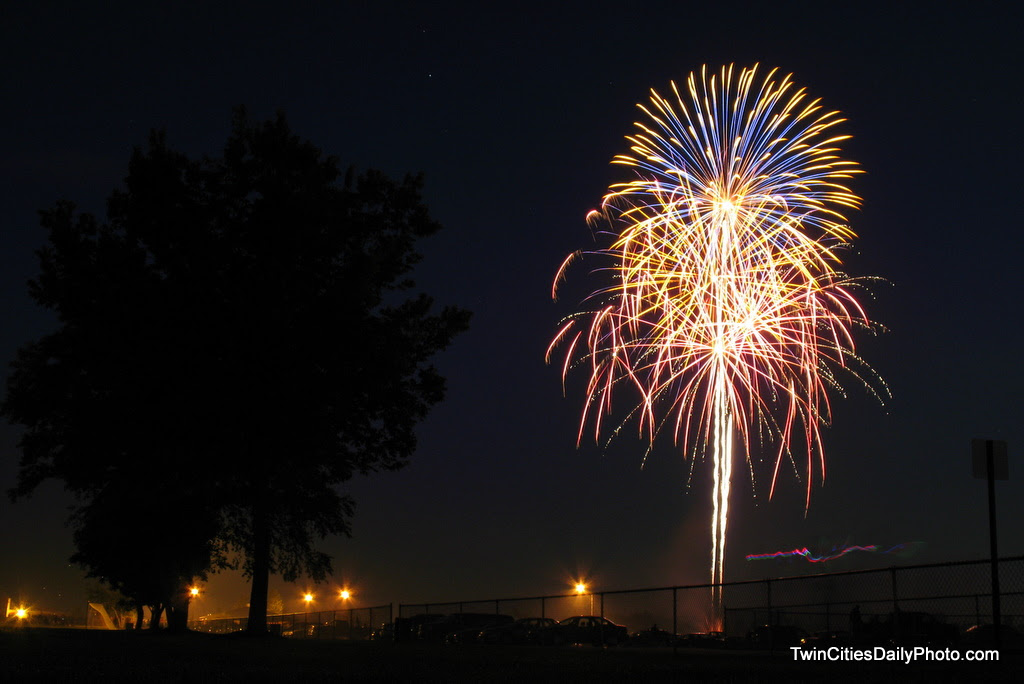 Captured on the 4th of July during the fireworks show in Cottage Grove. The event is held each year at Kingston Park.