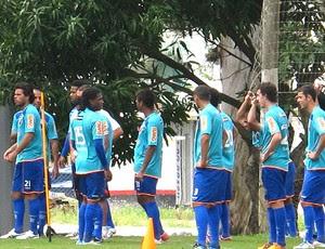 jogadores no treino do Flamengo (Foto: Richard Souza / GLOBOESPORTE.COM)