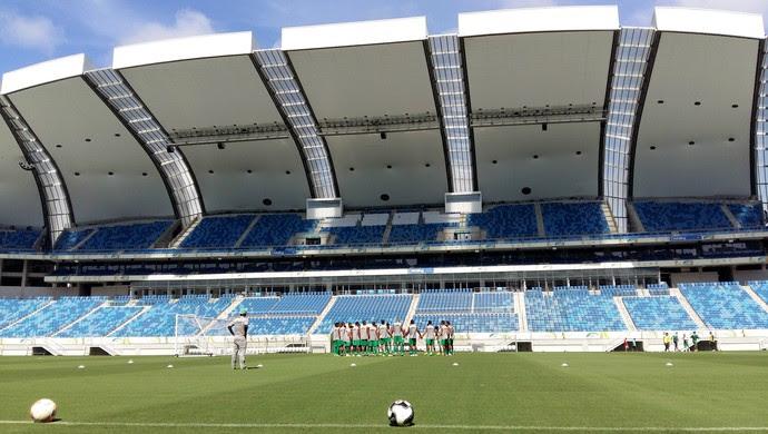 Alecrim treino Arena das Dunas manhã (Foto: Jocaff Souza/GloboEsporte.com)