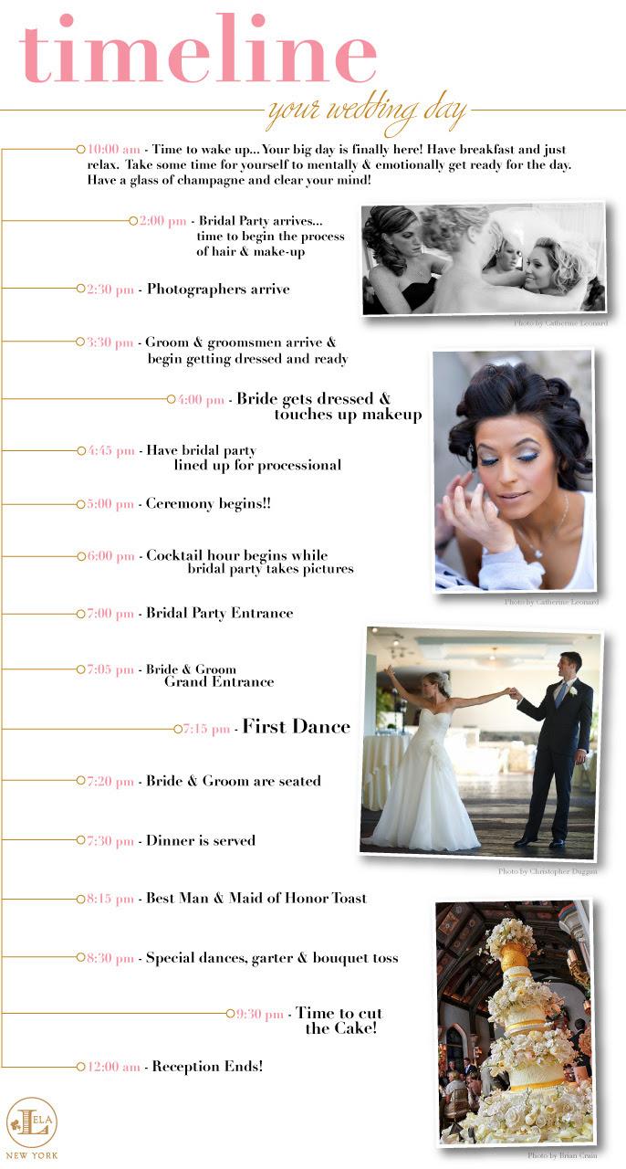 9 Best Images of Printable Wedding Day Timeline - Free Wedding Day Timeline Template, Wedding ...