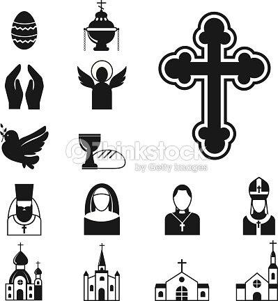 キリスト教宗教フラット アイコン ベクトル人々 を祈る伝統的な神聖な