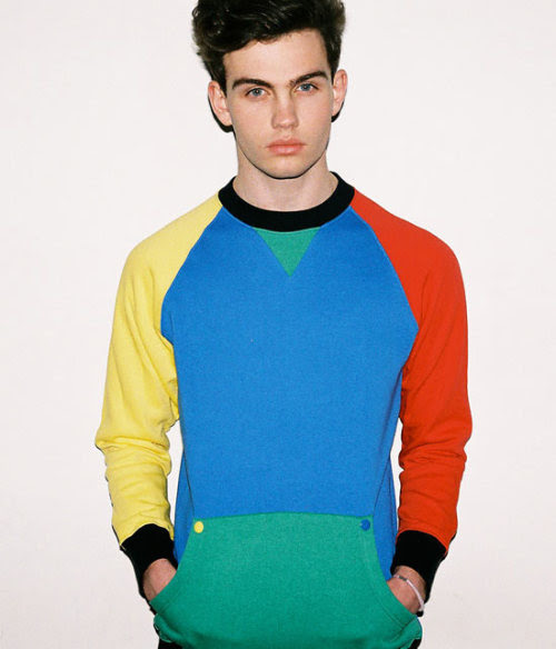 Cover yourself in every colour with Primary Panel sweater. It's so shiny and new.