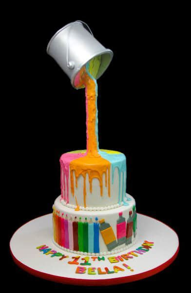 Suspended Paint Can Cake   Butterfly Bake Shop in New York