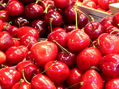 Cherries at La Boqueria