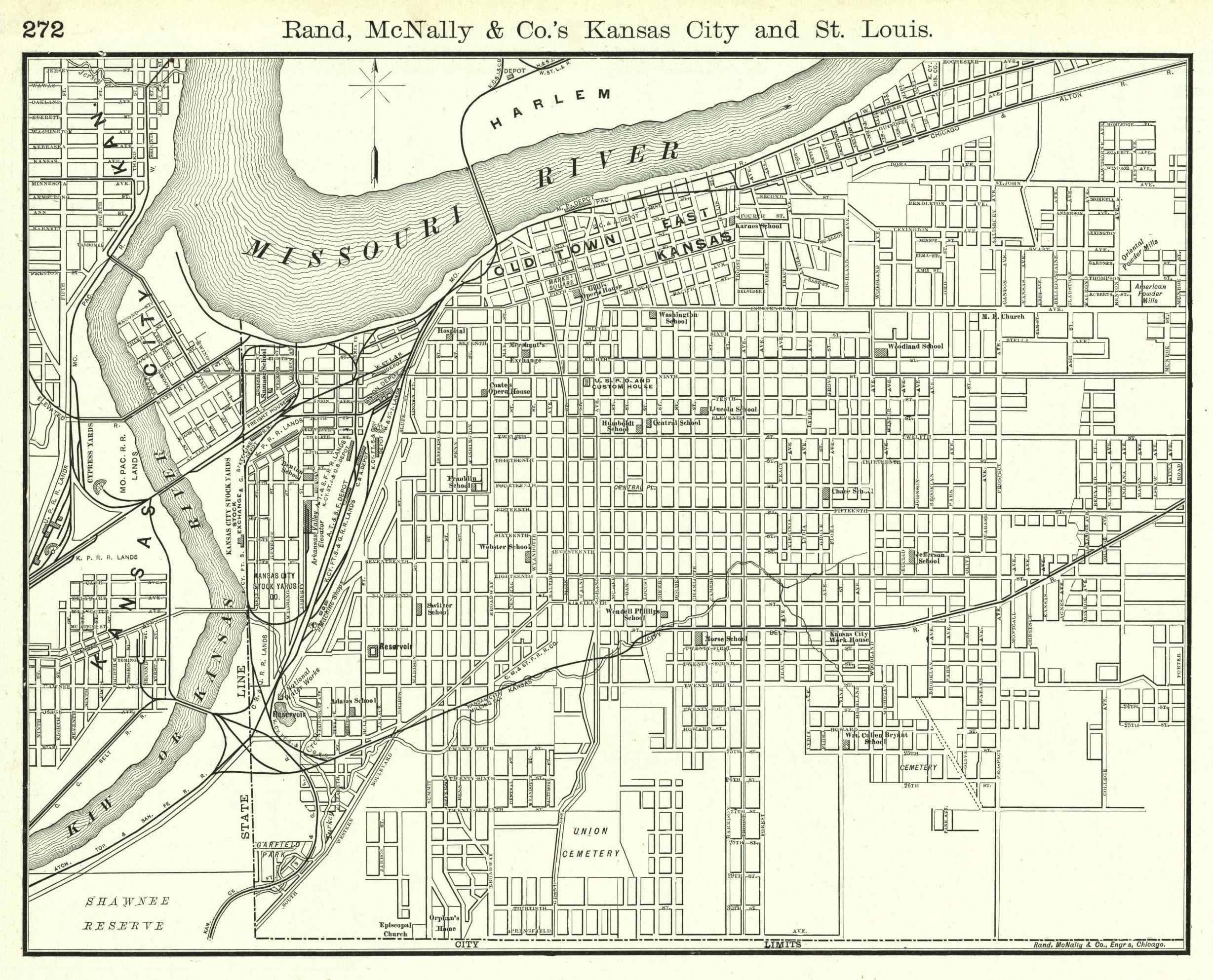 All Sizes Kansas City Street Map 1889 Flickr Photo