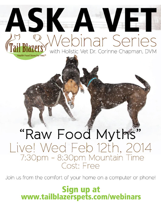 """Ask a Vet"" Webinar Series - Raw Food Myths with Dr. Corinne Chapman plus Weruva and Krill Oil"
