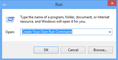 How To Create Your Own Run Commands