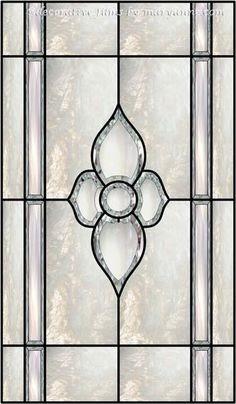 Beveled Cut Glass Decorative Window Film