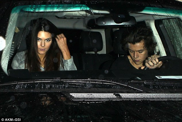 Former flame: Kendall pictured with Harry Styles from One Direction star Harry Styles in West Hollywood back in January while they were dating