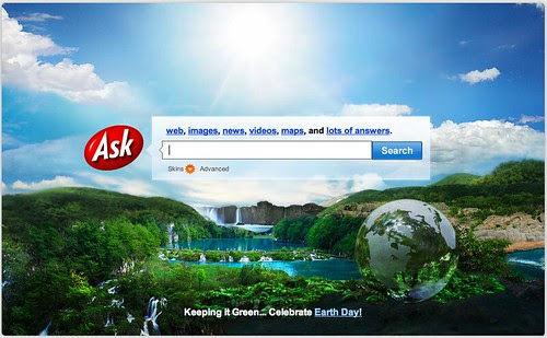 Ask.com Earth Day Logo