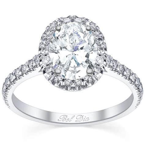 Pave Setting Oval Diamond Halo Engagement Ring