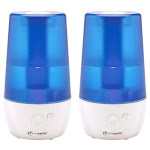 PureGuardian H965 70-Hour Ultrasonic Cool Mist Table Top Humidifier with Aroma Tray 2-pack