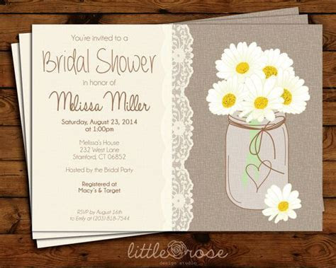 Rustic Bridal Shower Invitation   Country Wedding Shower