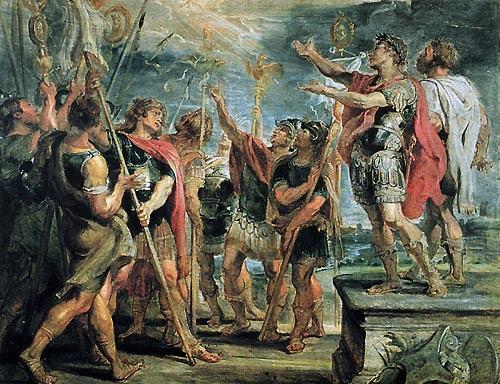 Αποτέλεσμα εικόνας για Το τέλος του μεγάλου Αγίου Ισαποστόλου Κωνσταντίνου...