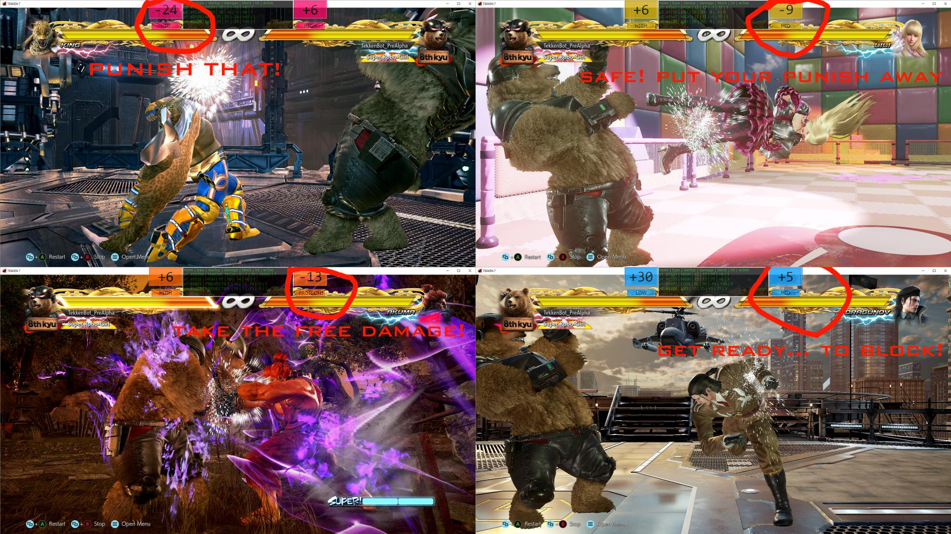 Tekken 7 Pc Tekkenbot Frame Data Overlay News Avoiding The Puddle