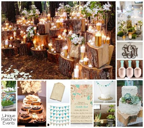 Wood Grain Spring Wedding Ideas   Unique Pastiche Events