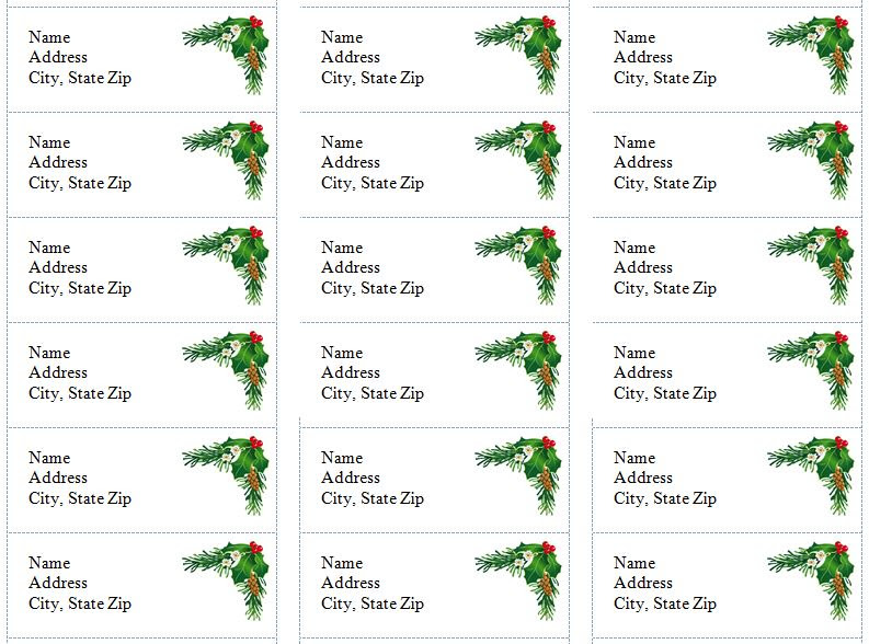34 Christmas Address Label Template