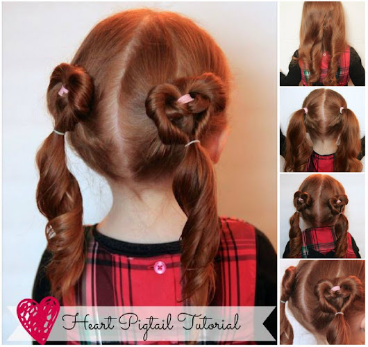 How To Do Cute Heart Pigtails Hair Style | How To Instructions