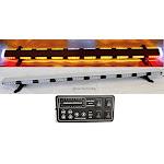 """56"""" Amber 86 LED Light Bar Flashing Warning Emergency Light w/ Brake Turn Signal"""