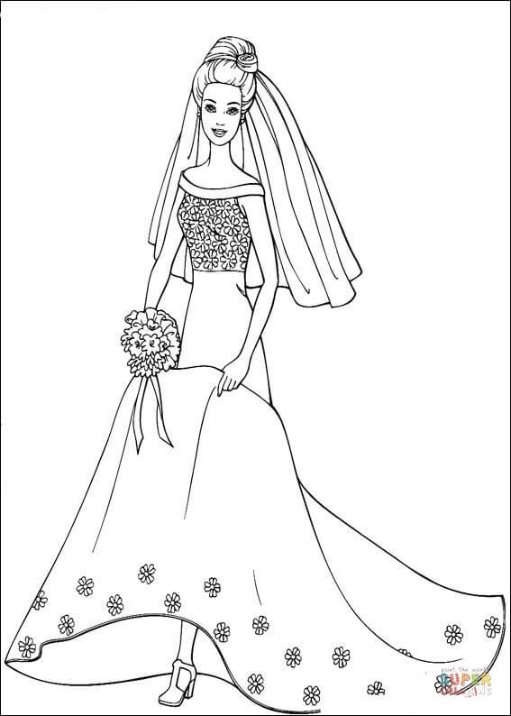 55 Simple Barbie Coloring Pages Images & Pictures In HD