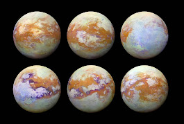 NASA's infrared map of Titan