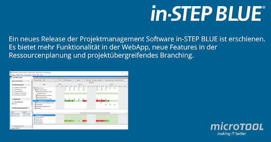 Neues Release der Projektmanagement-Software in-STEP BLUE