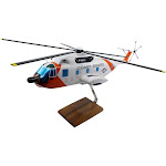 Sikorsky HH-3F Pelican Limited Edition Large Mahogany Model