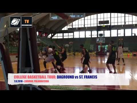IBL TV - 7.8.2018, COLLEGE BASKETBALL TOUR: DAGROUND vs ST. FRANCIS, 1° TEMPO