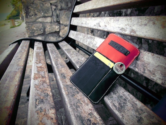 Mobile phone cover kitesurf pull-release tab-red by artefizio
