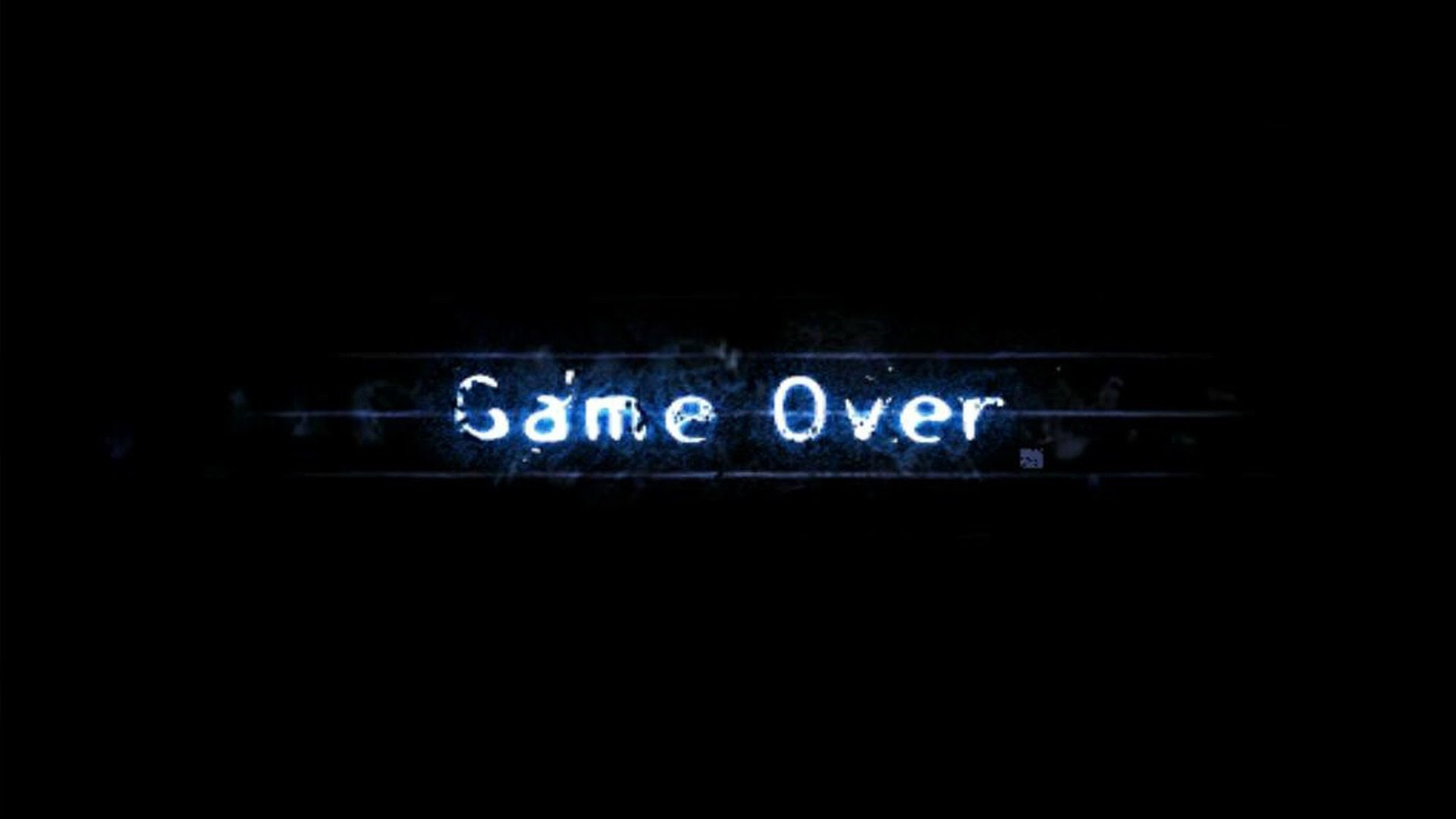Game Over black background wallpaper  1920x1080  186003