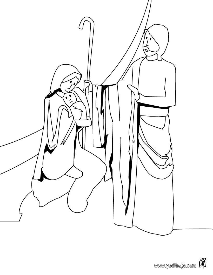 Dibujos Para Colorear San Jose Jesus Y María Eshellokidscom