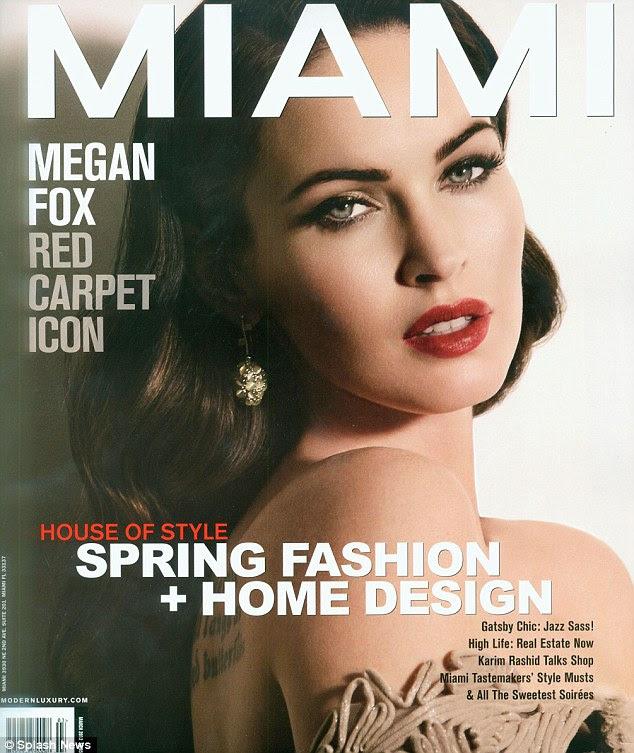 Cubra garota: Megan Fox olha a sua auto usual deslumbrante na capa da última edição da revista Miami