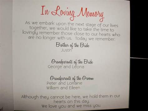 ways to remember loved ones at wedding   Honoring Loved