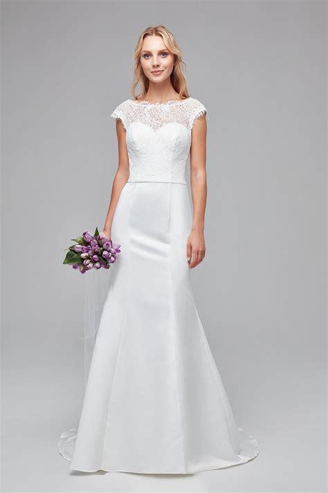 Illusion Lace and Satin Mermaid Wedding Dress WG3855