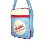 Vespa VPSB24 Logo Eco-Leather Shoulder Bag - Light Blue - 13 x 10 x 3.5 in.