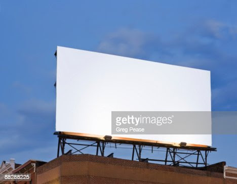 Blank Billboard Sign On Building Rooftop Stock Photo | Getty Images
