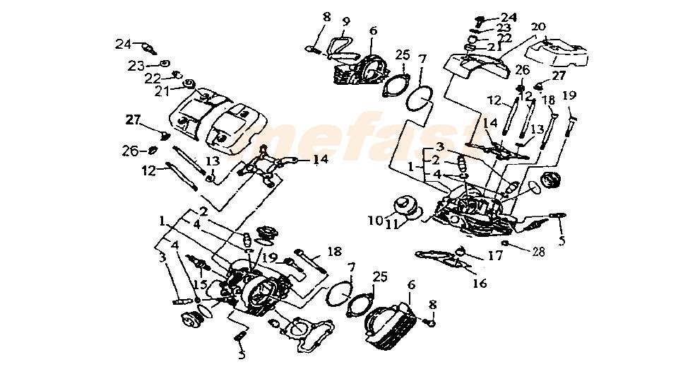 Lifan Engine Parts Diagram : Coolster 110cc Atv Parts