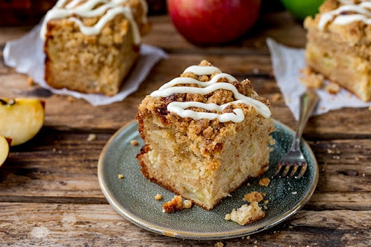 Apple Crumble Cake - Nicky's Kitchen Sanctuary