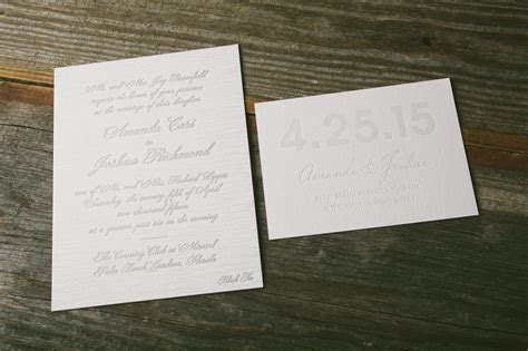 foil stamped faux bois wedding invitations   Bella Figura