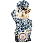 Navy Bulldog with Cap Stein