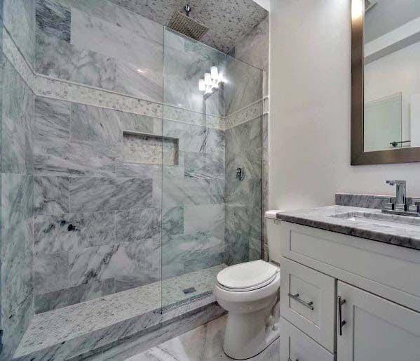 Grey White Marble Bathroom Ideas